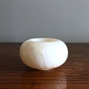 {Vintage} Marble Candle Holder Modern Retro Earthy